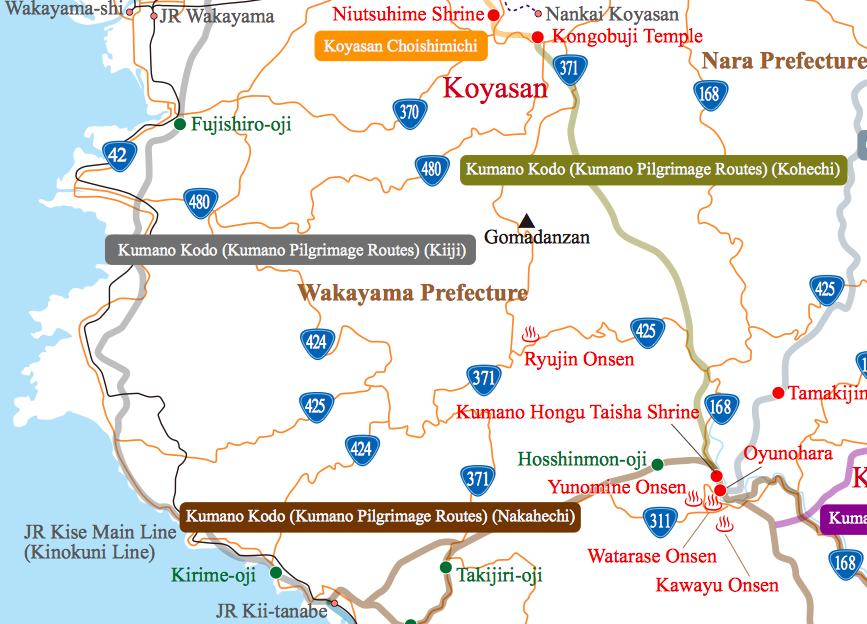 Wakayama Map Detail